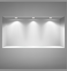 Gray niche for presentations vector