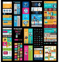 Mega collection of website templates web headers vector