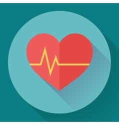 Abstract world health day concept with heart and vector