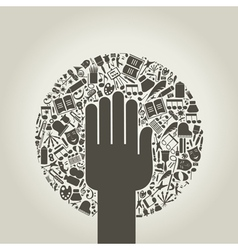Arts a hand vector image