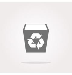 eco recycle bin Icon eco recycle bin Icon vector image
