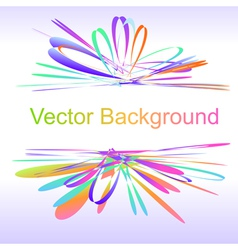 Abstract bow colorful background vector image