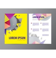 Abstract Triangle design template layout vector image vector image