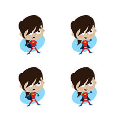 Adorable and amazing woman cartoon superhero in vector