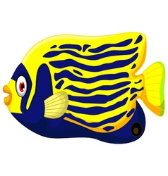 Angelfish cartoon vector image