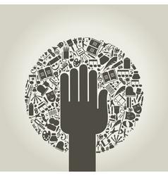 Arts a hand vector