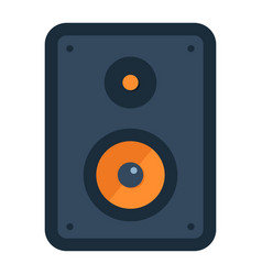 Audio monitor flat icon sound and speaker vector