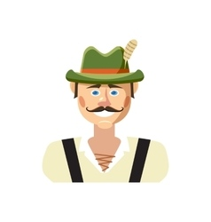Bavarian man icon cartoon style vector