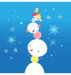 bright funny snowman vector image