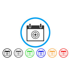 Bullseye calendar day rounded icon vector