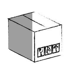 carton box packing icon vector image