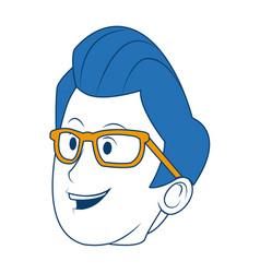 cartoon portrait head man male character vector image vector image
