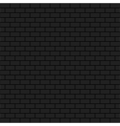 Dark brick wall vector image