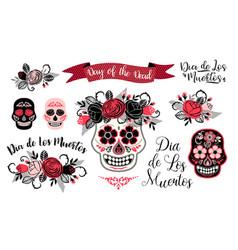 Dia de los muertos day of the dead design vector