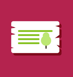 Flat icon design collection paper from tree in vector