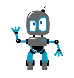 Funny cartoon robot vector