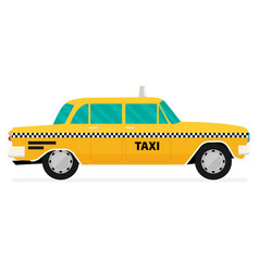 graphic yellow retro taxi cab vector image