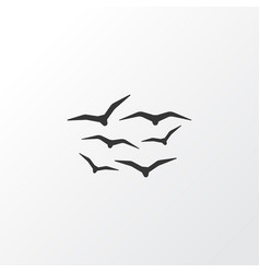 Gulls icon symbol premium quality isolated vector