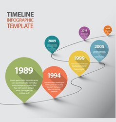 infographic timeline template with pointers vector image vector image