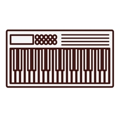 Keyboard piano icon image vector