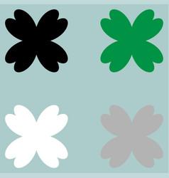 Leaf clover fourfoil icon vector