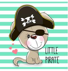 Little puppy pirate vector