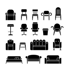 office hair armchair lounge comfortable sofa vector image vector image