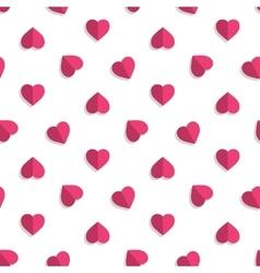 Pink hearts pattern vector image vector image
