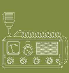 retro CB radio vector image