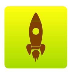 rocket sign brown icon at vector image