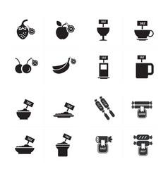 Sale foods icon set vector