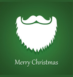 santa claus beard and moustache white christmas vector image