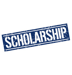 Scholarship square grunge stamp vector