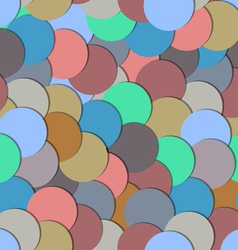 Seamless pattern with paper circles vector image