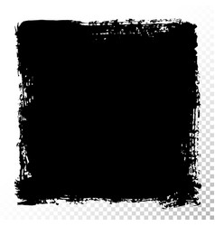 Square text box black oil stains isolated vector