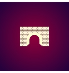 Tunnel icon concept for vector image