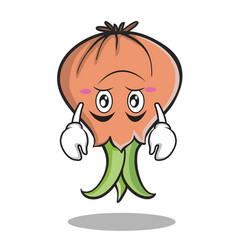 upside down onion character cartoon vector image vector image