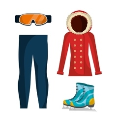 Winter fashion clothes and accesories vector