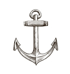 Hand drawn sketch anchor vector