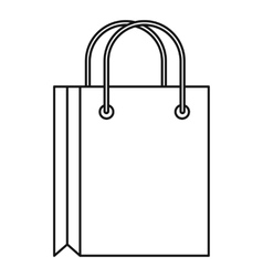 Shopping bag icon outline style vector