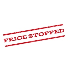 Price stopped watermark stamp vector