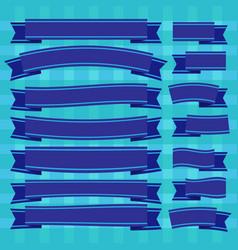 Blue ribbons vector