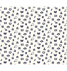 Seamless web icons and simbols pattern vector image
