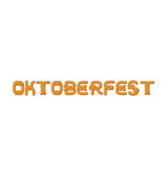 Oktoberfest lettering pretzel font bake snack vector