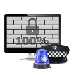 Computer security concept vector