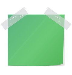 Green post it vector