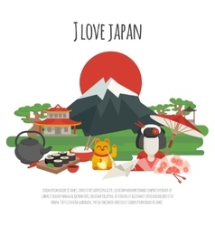 Japanese tradition Symbols Poster vector image