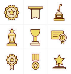Icons style medals icons vector