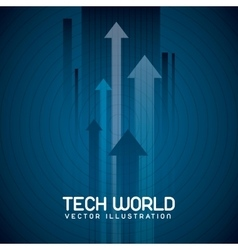 Tech world vector