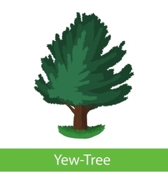 Yew-tree cartoon icon vector